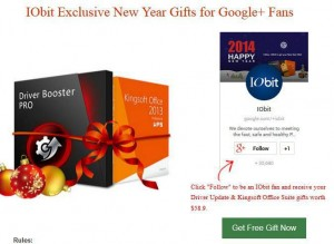 IObit Exclusive New Year Gifts for Google+ Fans