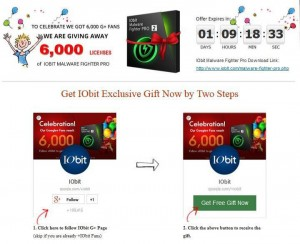 IObit Malware Fighter Pro G+ Giveaway