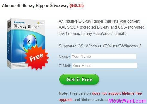 Aimersoft Blu Ray Ripper Giveaway