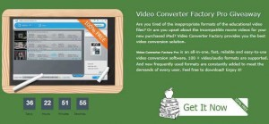 Video Converter Factory Pro Giveaway