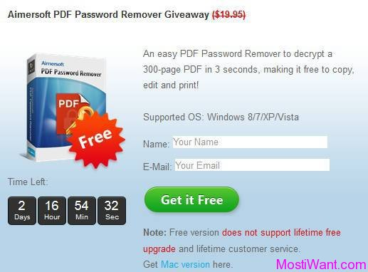 Aimersoft PDF Password Remover For Free