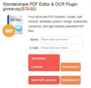 Wondershare PDF Editor & OCR Plugin Free Giveaway