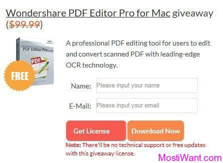 Wondershare PDF Editor Pro for Mac Free Giveaway