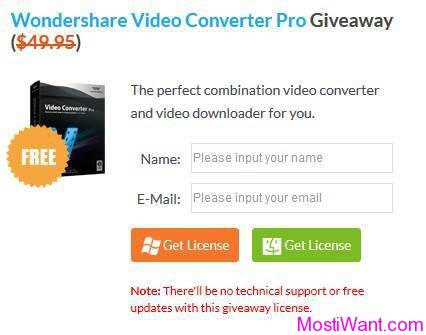 Wondershare Video Converter Pro Free Giveaway