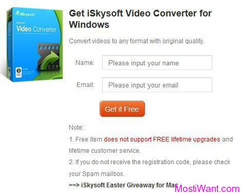 iSkysoft Video Converter Giveaway