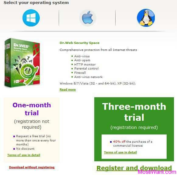 Dr.Web Security Space Free 3 Months Trial Download
