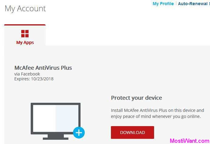 McAfee Antivirus Plus 2018 Free Subscription