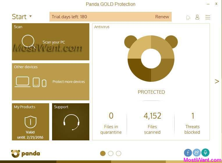 Panda global protection 2009 free download.