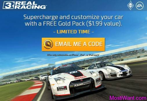 Real Racing 3 iOS Game Free 10 Gold