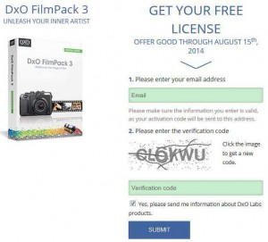 DxO FilmPack 3 Essential Edition Sony Giveaway