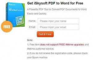 iSkysoft PDF to Word Converter Giveaway