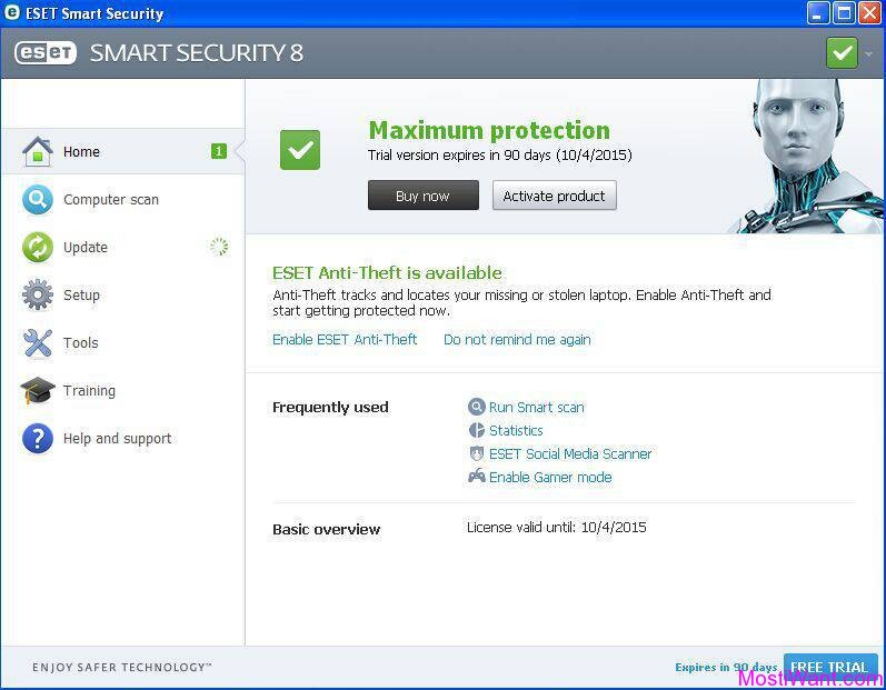 eset smart security 5 username and password free