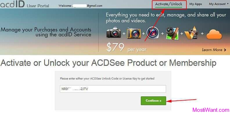 Unlock ACDSee Product