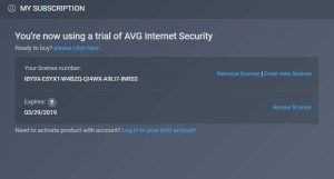 AVG Internet Security 2018 Free Subscription