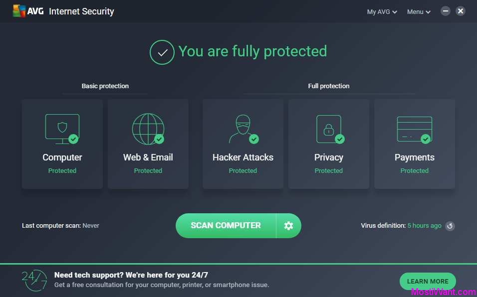AVG Internet Security 2018