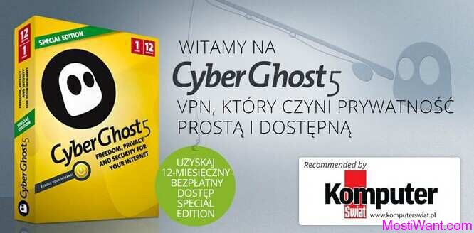 CyberGhost 5 Special Edition Free 1 Year