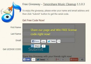 Tenorshare Music Cleanup Giveaway