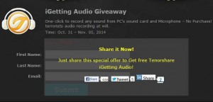 Tenorshare iGetting Audio Free Giveaway