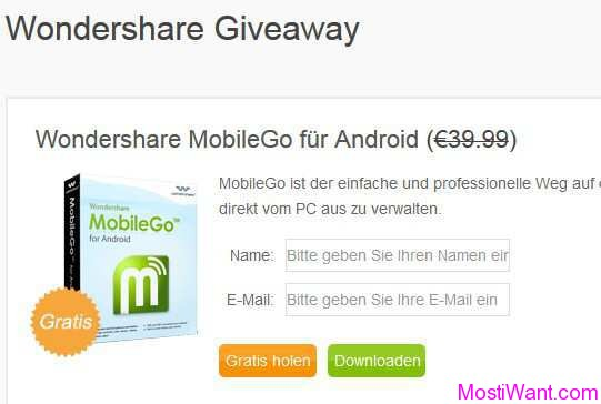 Wondershare MobileGo For Android Pro Giveaway