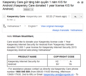 Kaspersky Internet Security for Android Activation Code
