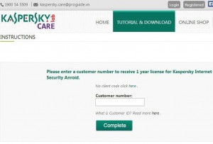 Kaspersky Internet Security for Android Giveaway