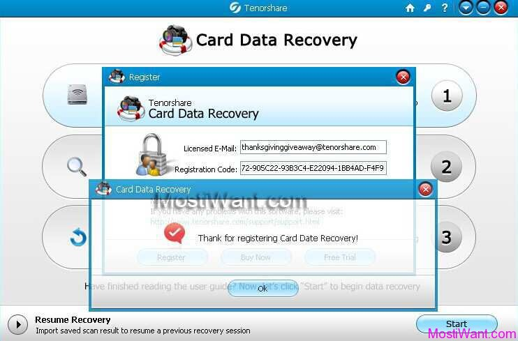 free sd memory card data recovery registration key