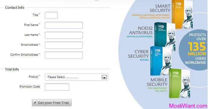 ESET Home Products Free 4 Months Trial License