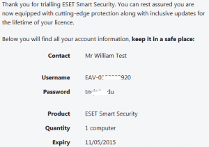 ESET Smart Security Free Trial License