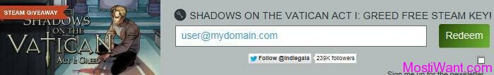Shadows on the Vatican PC Game Free Steam Key