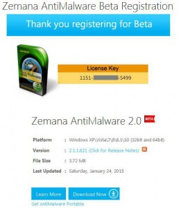 Zemana AntiMalware Lifetime License Key