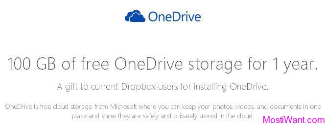 Free 1 Year of 100GB OneDrive Cloud Storage