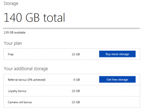 OneDrive Free Cloud Storage