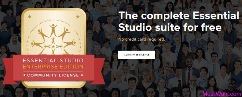 Syncfusion Essential Studio Enterprise Edition Free Community License