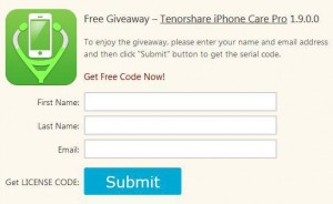 Tenorshare iPhone Care Pro Giveaway