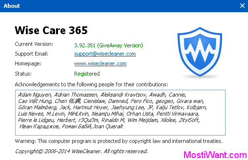 Wise Care 365 Pro 3.9 Full Version