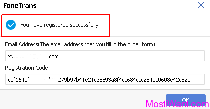 fonetrans email and registration code