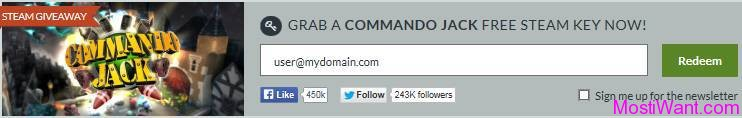 Commando Jack Free Steam Key Giveaway