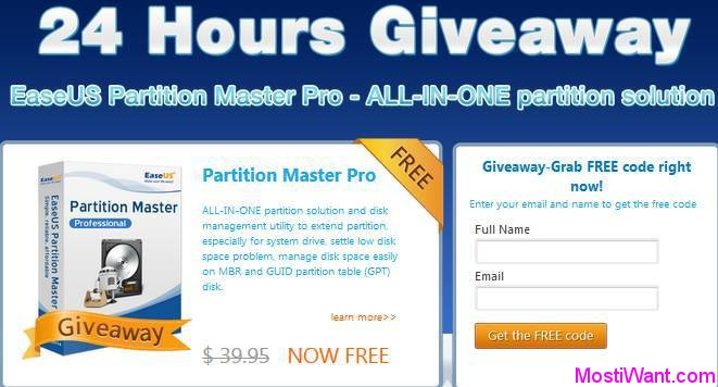 EASEUS Partition Master Pro Giveaway