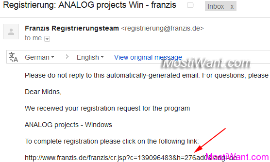 Franzis Analog Projects Premium Email Confirm