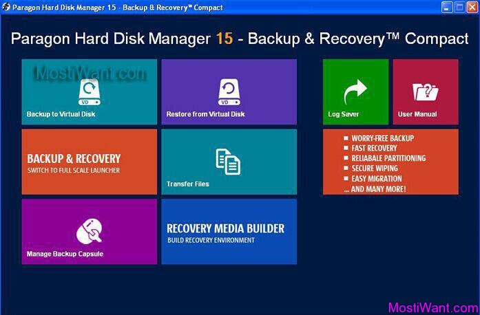 Paragon Hard Disk Manager 15 – Backup & Recovery Compact