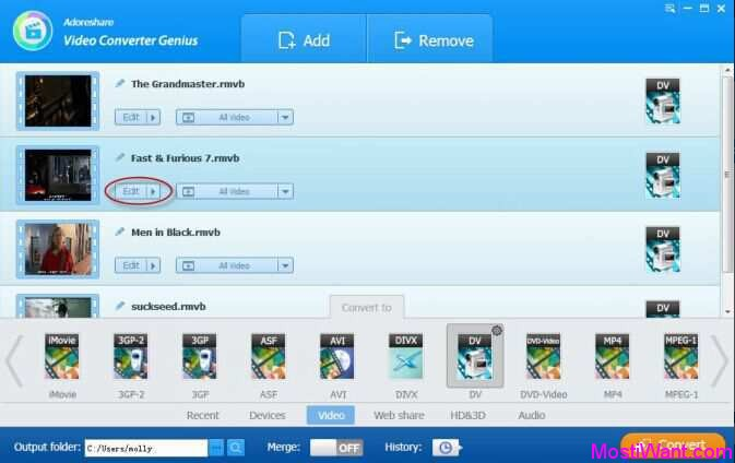 Adoreshare Video Converter Genius