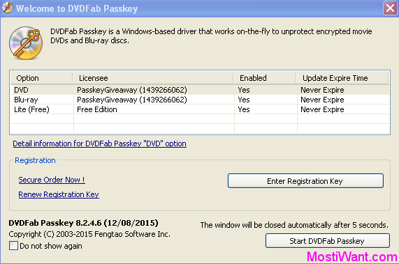 DVDFab Passkey Free Full Version