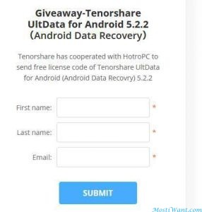 Tenorshare UltData For Android Giveaway