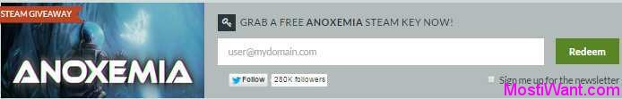 Anoxemia Game Free Giveaway