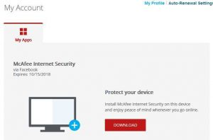 McAfee Internet Security 2018 Free 6 Months Subscription