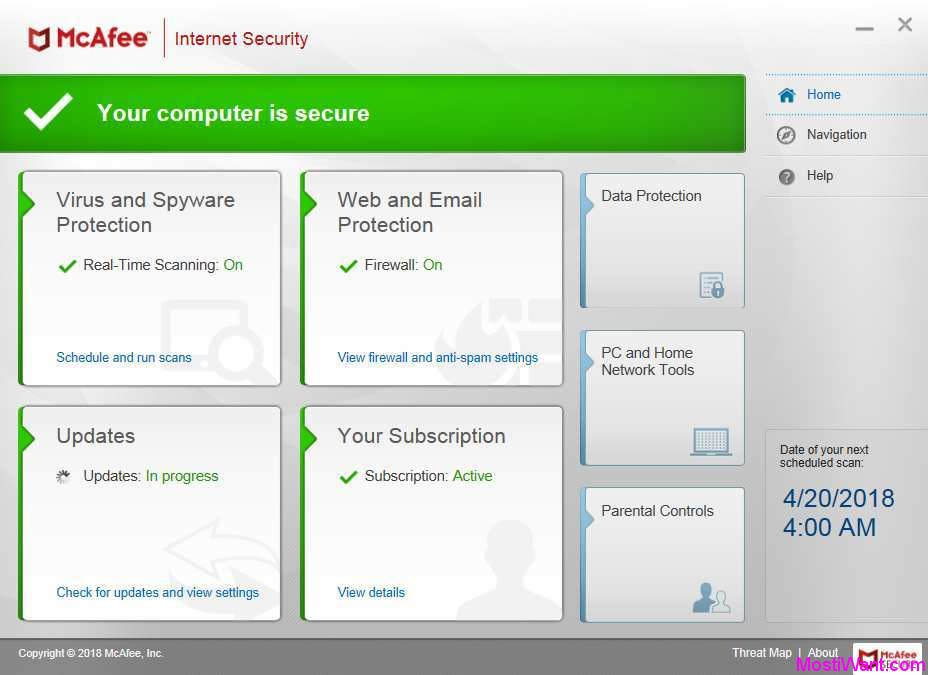 Guide: uninstall mcafee total protection 2012.