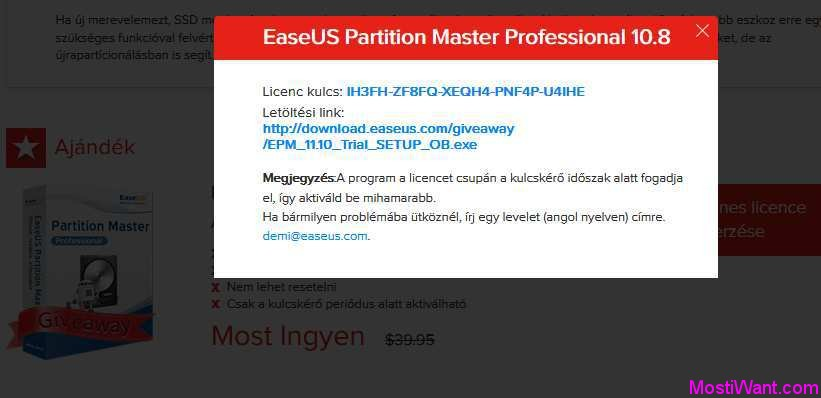 EASEUS Partition Master Pro Free License