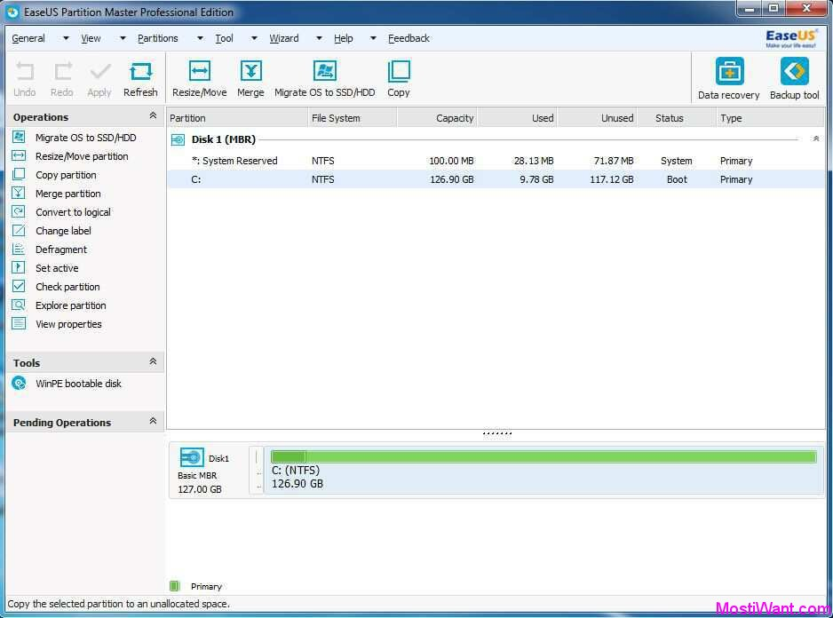 Easeus Partition Master Professional Edition