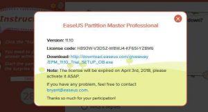 Easeus Partition Master Pro Easter 2018 Giveaway