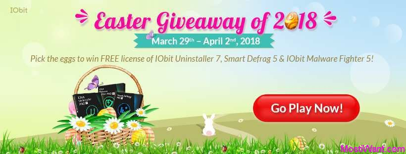 IObit Easter 2018 Giveaway
